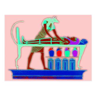 Art égyptien de mur carte postale