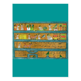 Art égyptien de mur cartes postales