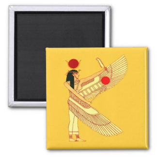 Art égyptien de mur magnet carré