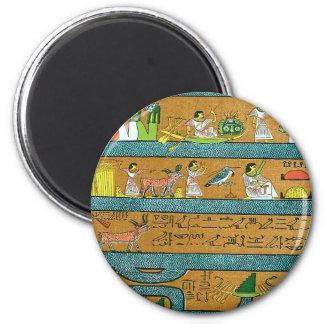 Art égyptien de mur magnet rond 8 cm