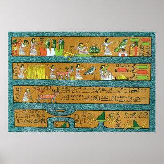 Art égyptien de mur affiche