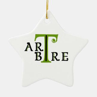 Art en arbre artree ornement étoile en céramique