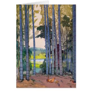 Art en bambou de forêt de Yoshida de japanse Cartes De Vœux