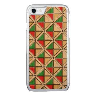 Art en bois de caisse de cerise mince de l'iPhone Coque Carved iPhone 8/7