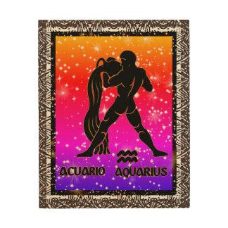 Art en bois de mur d'astrologie de zodiaque de