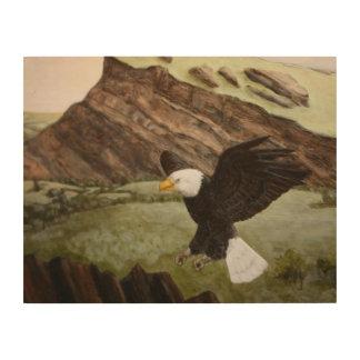 art en bois d'Eagle chauve