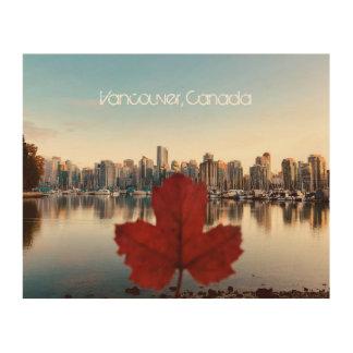 Art en bois d'érable rouge de Vancouver Canada