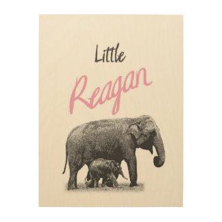 """Art en bois personnalisé de mur de """"petit Reagan"""""""