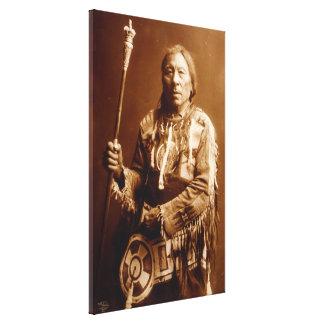Art en chef Blackfoot de toile d'Aatsista-Mahkan