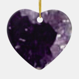 art en cristal en verre pourpre ornement cœur en céramique