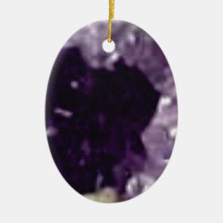 art en cristal en verre pourpre ornement ovale en céramique