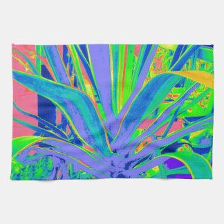 Art en pastel de cactus d'agave américain par Shar Serviettes Pour Les Mains