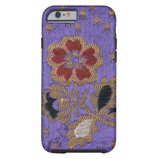 Art en soie floral pourpre japonais vintage de coque iPhone 6 tough