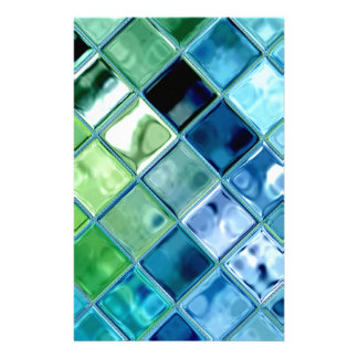 art en verre turquoise de tuile de mosaque papeterie - Mosaique Turquoise