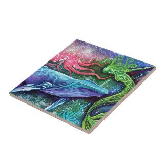 Art enchanté d'océan petit carreau carré