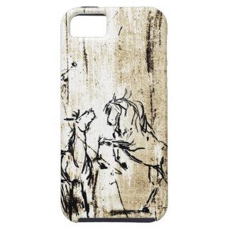 Art équin élevant des chevaux coques Case-Mate iPhone 5