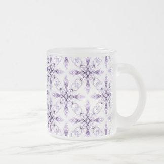 Art fané floral de fractale de lavande tasse