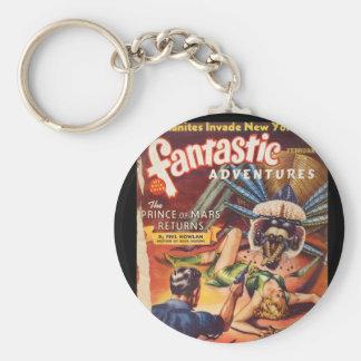 Art fantastique des aventures 1940_Pulp Porte-clé Rond