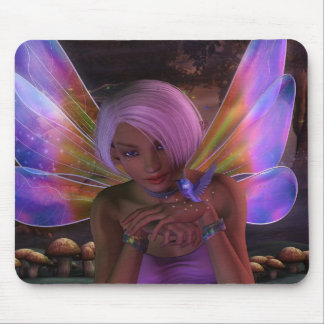 Art féerique d imaginaire de gardien de colibri tapis de souris