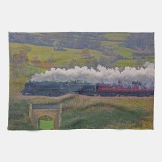 Art ferroviaire locomotif d'enthousiaste de train linges de cuisine