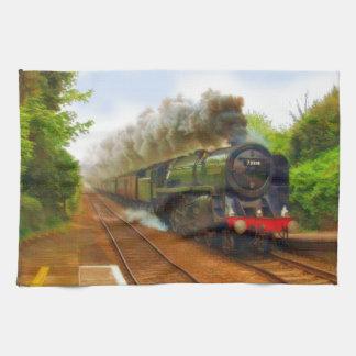 Art ferroviaire locomotif d'enthousiaste de train serviette éponge