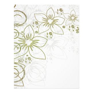 Art floral blanc prospectus personnalisés