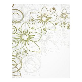 Art floral blanc prospectus en couleur