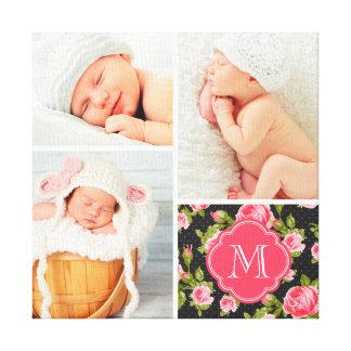 Art floral de crèche de collage de photo de bébé d toiles