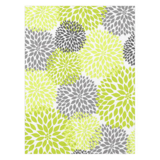 Art floral de dahlia gris vert Chartreuse Nappe
