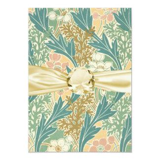 art floral de fleur de ressort de nouveau d'art carton d'invitation  12,7 cm x 17,78 cm