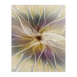 Art floral de fractale d'abrégé sur aubergine d'or
