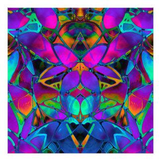 Art floral de fractale d'impression de photo