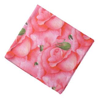 Art floral de roses de rose de Bandana de dames