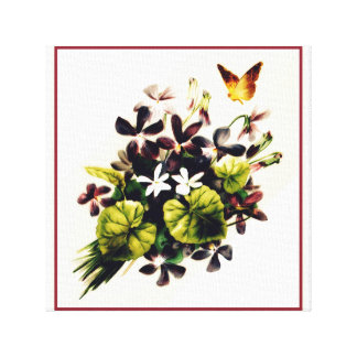 Art floral de toile de scène de pays vintage de