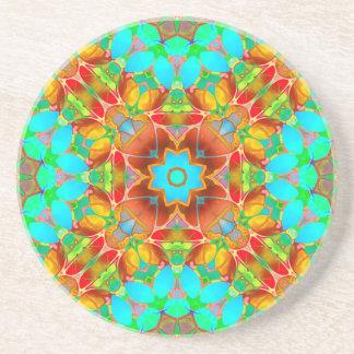 Art floral G410 de fractale de dessous de verre