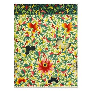 Art floral ornemental chinois carte postale