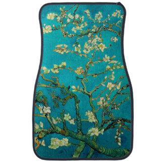 Art floral se développant d'arbre d'amande de tapis de voiture