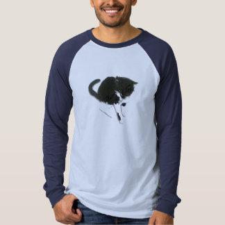Art frais noir et blanc de chat t-shirt