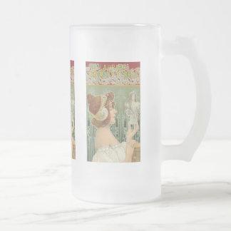"""Art français Nouveau """"Laurier Objets - d ' art """" Tasses"""