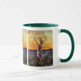 Art français vintage de bicyclette mug