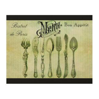 Art français vintage de mur de menu