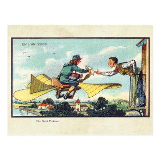 Art futuriste vintage de couleur de machines de carte postale