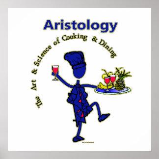 Art gastronome d'Aristology de la cuisine Poster
