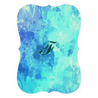 Art gelé de peinture d'égouttement d'abrégé sur carton d'invitation  12,7 cm x 17,78 cm