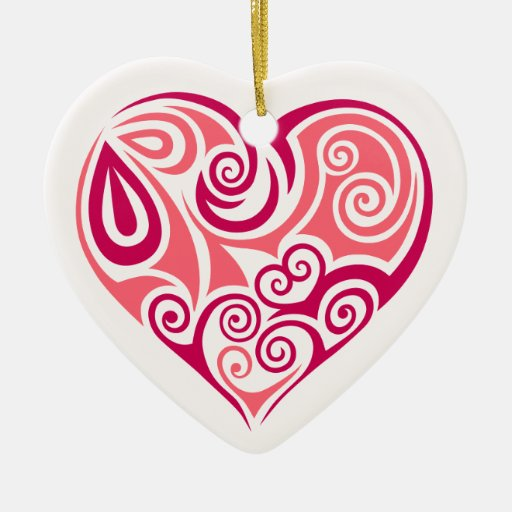 Art girly d 39 amour de tatouage de symbole tribal ornement c ur en c ramique zazzle - Tatouage amour perdu ...