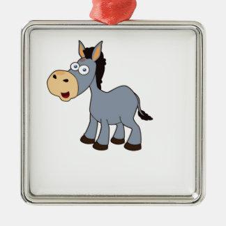 art gris de cheval ornement carré argenté