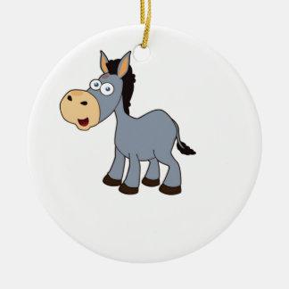 art gris de cheval ornement rond en céramique