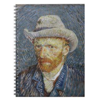Art gris de peinture de chapeau de feutre carnet à spirale