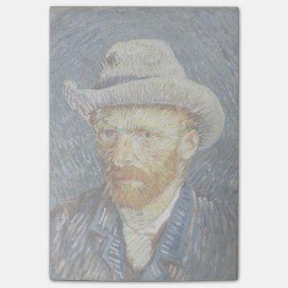 Art gris de peinture de chapeau de feutre note post-it