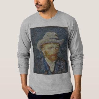Art gris de peinture de chapeau de feutre t-shirts